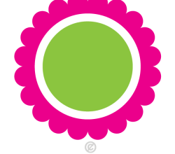 Vector Clip Art Circle Flower