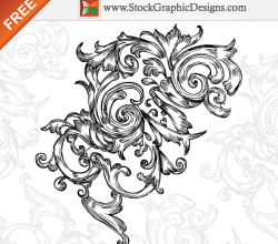 Hand Drawn Floral Free Vector Graphics