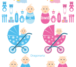 Vector Baby Time Graphics