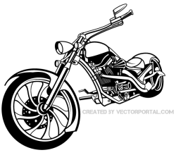 Vector Chopper Motorcycle
