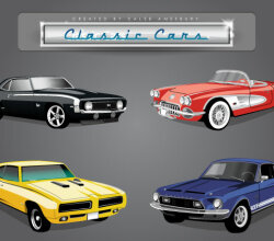 Classic American Cars Vector Pack
