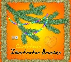 Christmas Tree Branch Illustrator Brushes