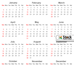 Simple 2015 Calendar Template Vector Free