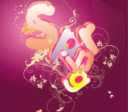 Abstract Letters Background Vector