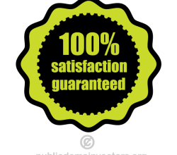100% Satisfaction Guaranteed Vector