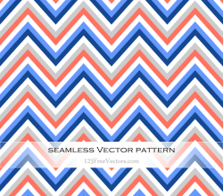 Colorful Chevron Seamless Pattern Vector