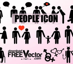 Vector People Silhouette Icons