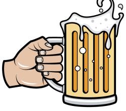 Hand Holding Beer Mug Vector