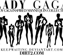 Vector Lady Gaga Mannequin