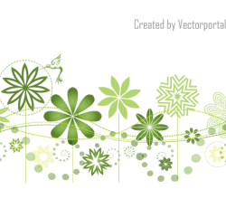 Abstract Floral Garden Background Design