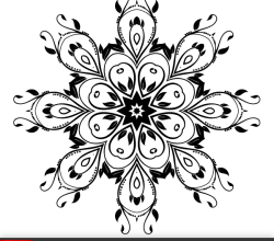 Vector Ornate Flourish Design Element