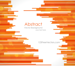 Abstract Orange Lines Background Vector Template