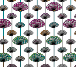 Flower Wallpaper Vector Patterns Free