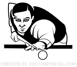 Vector Snooker Player Image