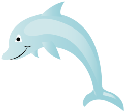 Vector Dolphin Cartoon