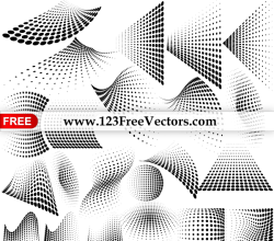 Vector Graphics Halftone Dots Design Elements