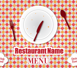 Retro Restaurant Menu Free Vector Design