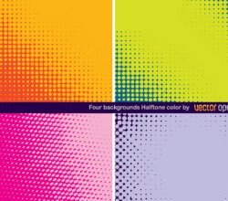 Colorful Halftone Background Vector