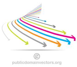 Vector Colorful Arrows Graphics