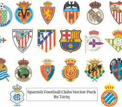 Spanish Football Clubs Logos Vector Pack