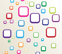 Vector Multicolor Rounded Square Shape Background
