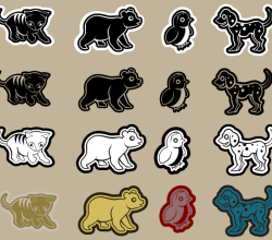 Vector Die Cut Animals