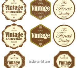 Vector Vintage Grunge Stickers