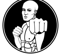 Martial Arts Fighter Vector Clip Art