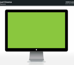 Vector Apple Led Cinema Template