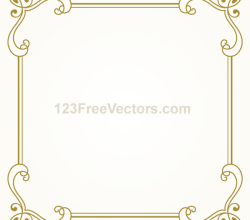 Vintage Gold Frame Design Vector Graphics
