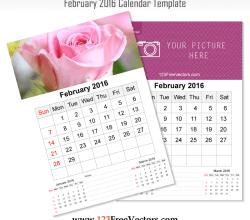 Wall Calendar February 2016