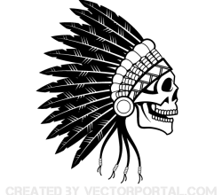 Indian Chief Skull Vector