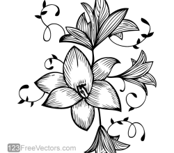 Flower Vector Graphic