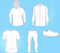 Free Clothing Templates Vector