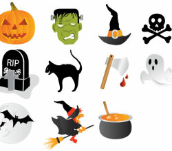 Halloween Icons Free Vector