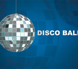 Vector Disco Ball Party Background Design