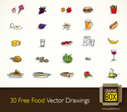 Food Vector Drawings
