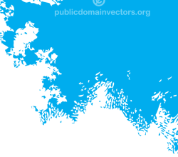 Vector Blue Background with Paint Splatter