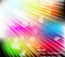 Vector Abstract Colorful Light Background Design