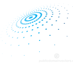 Abstract Circular Halftone Pattern Vector