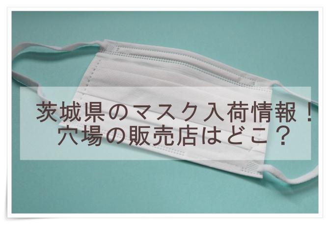 茨城県のマスク入荷情報
