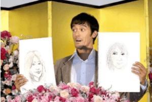 阿部寛の嫁の似顔絵