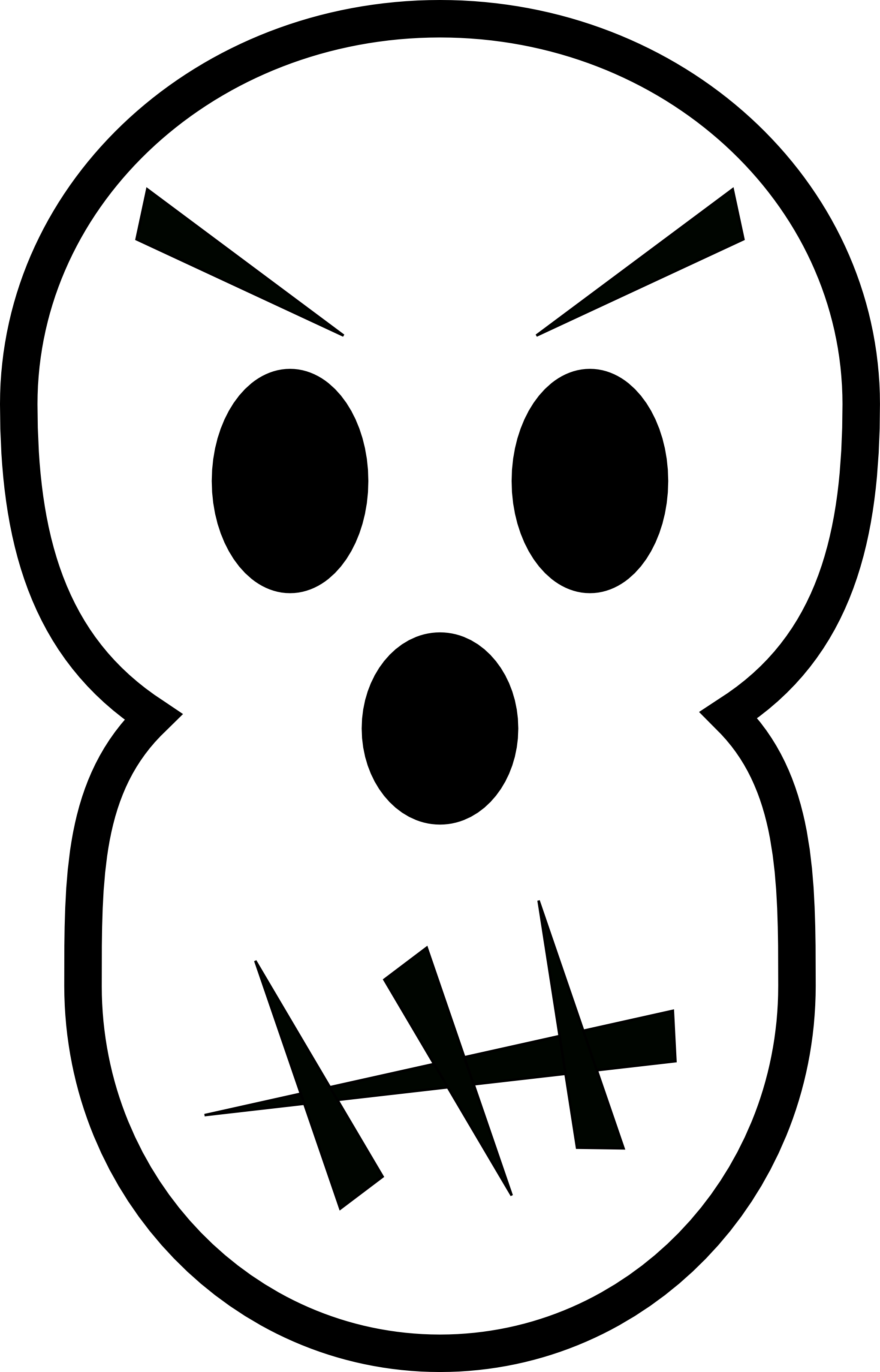Black And White Angry Skull