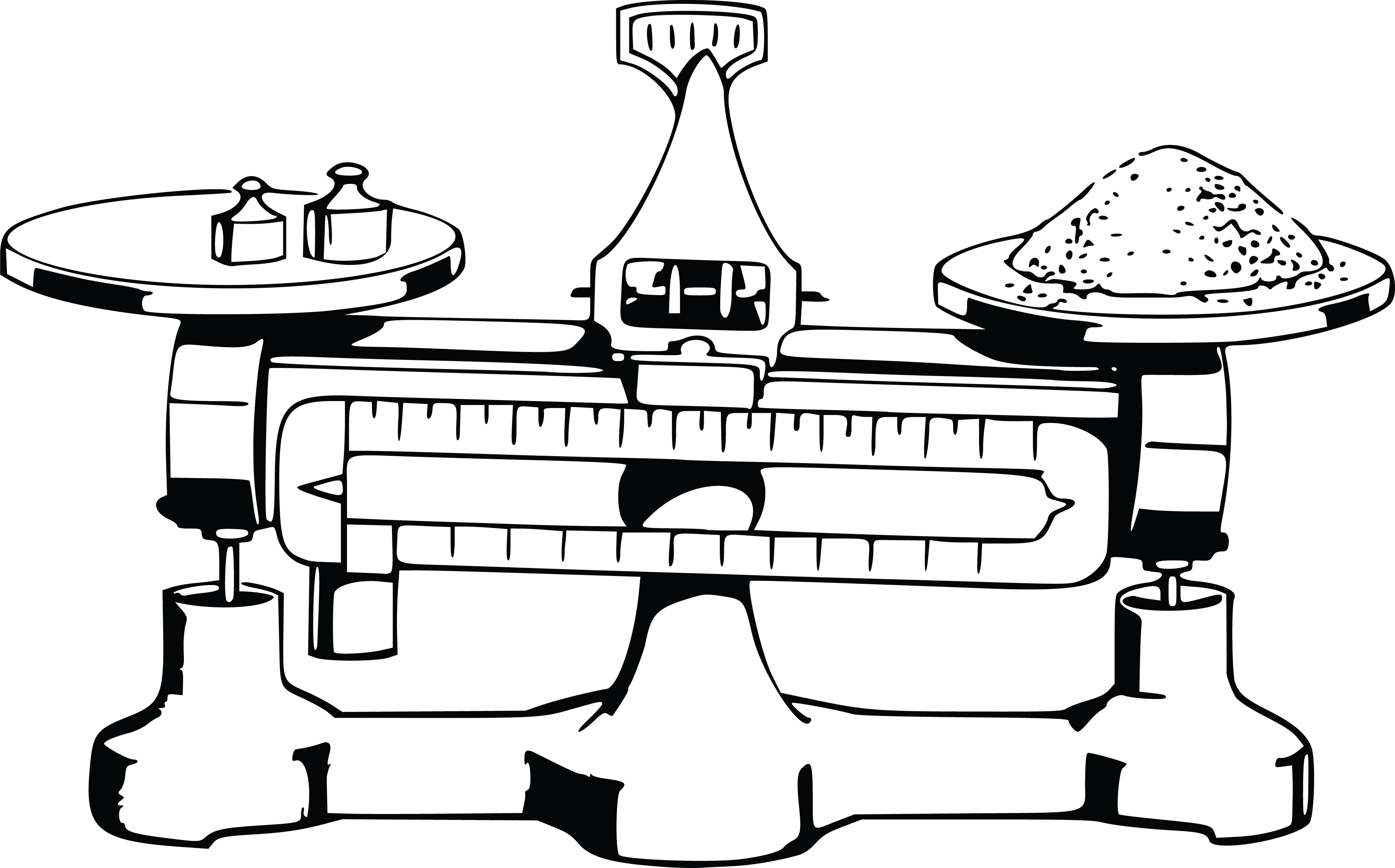 Free Clipart Of A Balanced Scale