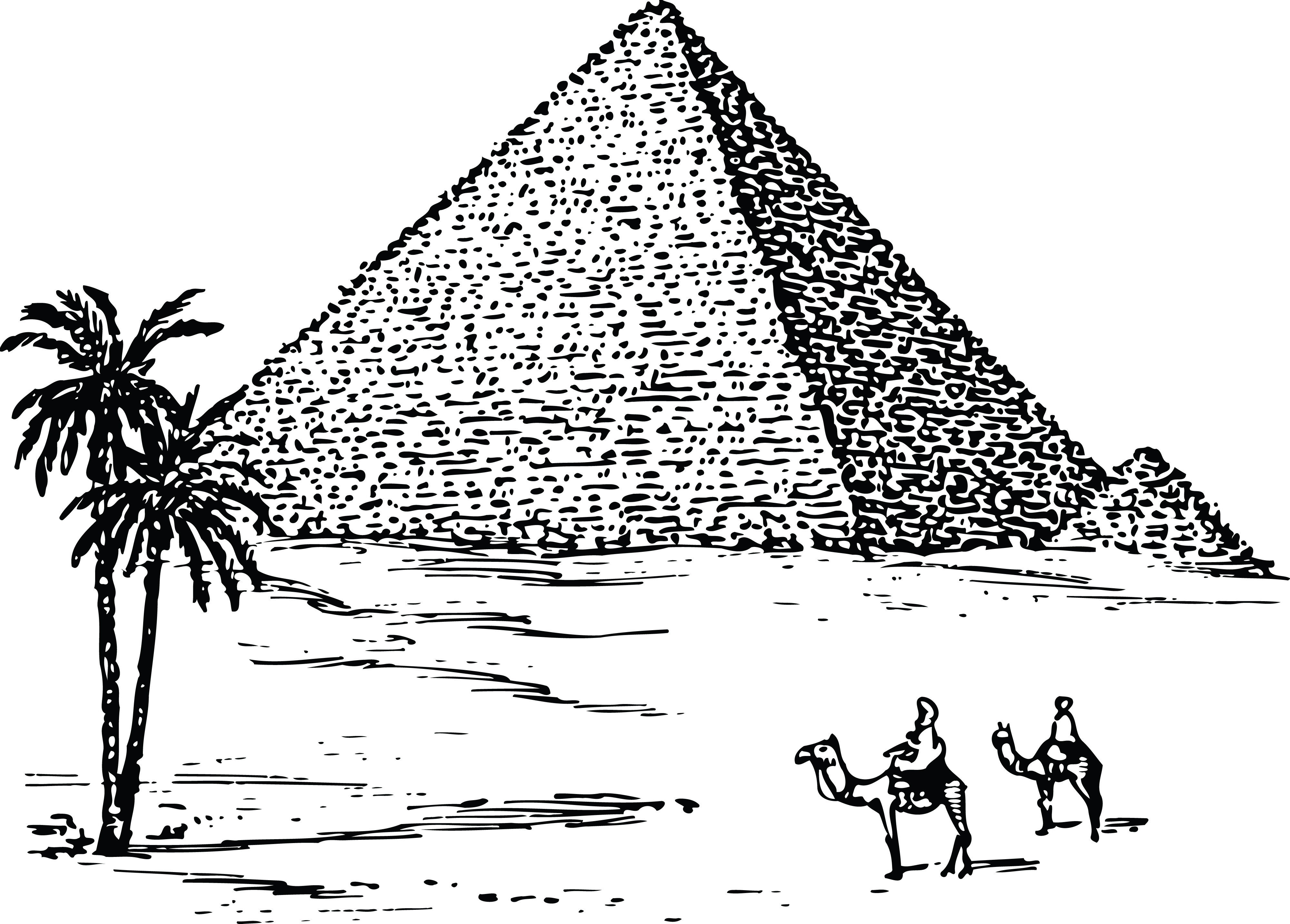 Free Clipart Of The Pyramids Of Giza