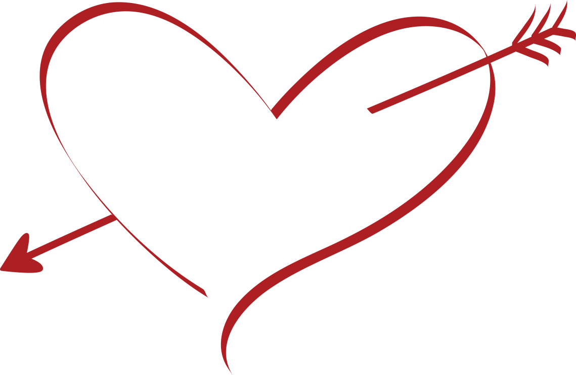 Download Free Clipart Of A cupid arrow heart