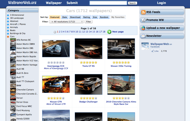 WallpaperWeb 世界最大的免費桌布網,各種類型、解析度桌布應有盡有