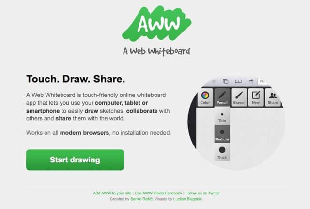 AWW - A Web Whiteboard