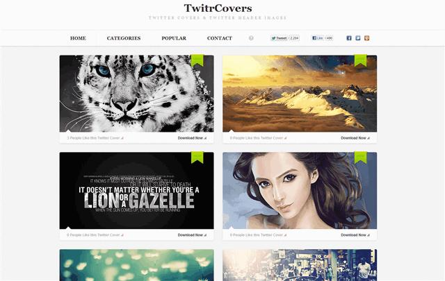 TwitrCovers:免費 Twitter、Facebook 封面相片
