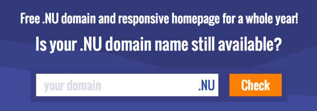 Directregister 提供 .NU 免費頂級網域名稱(一年),立即搶註你的網址
